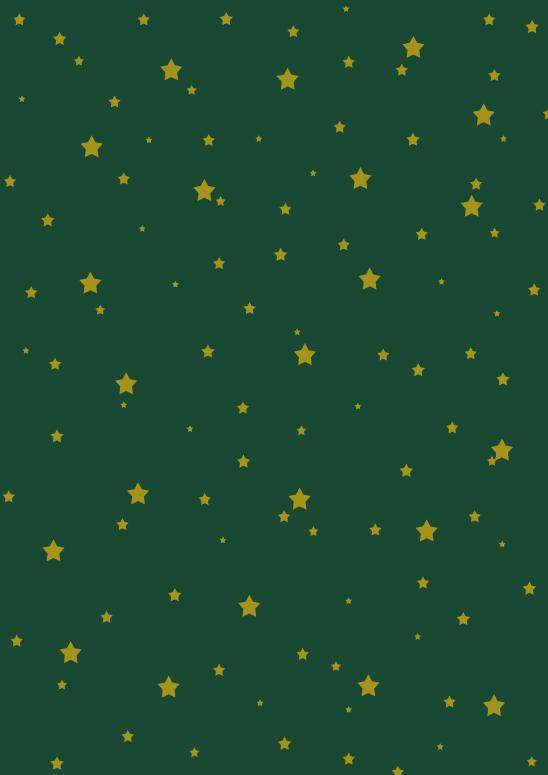 étoiles or sur vert foncé