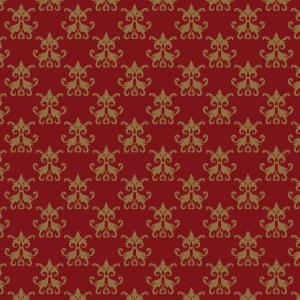 damas brun sur rouge