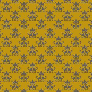 damas gris sur jaune