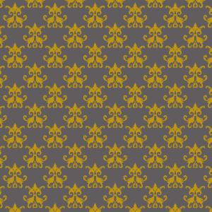 damas jaune sur gris