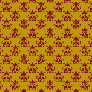 damas rouge sur jaune