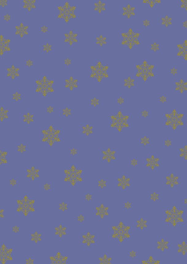 flocons or sur bleu mauve