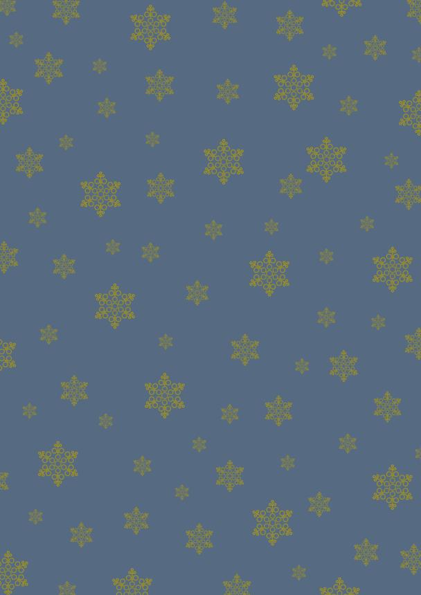 flocons or sur bleu