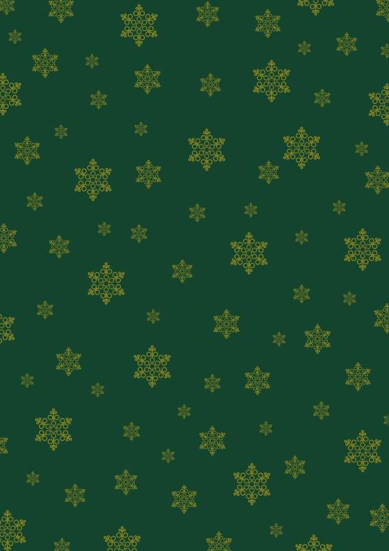 flocons or sur vert foncé