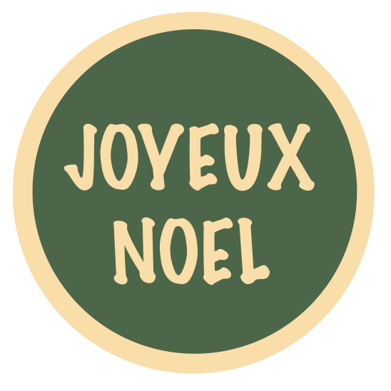 joyeux noel beige