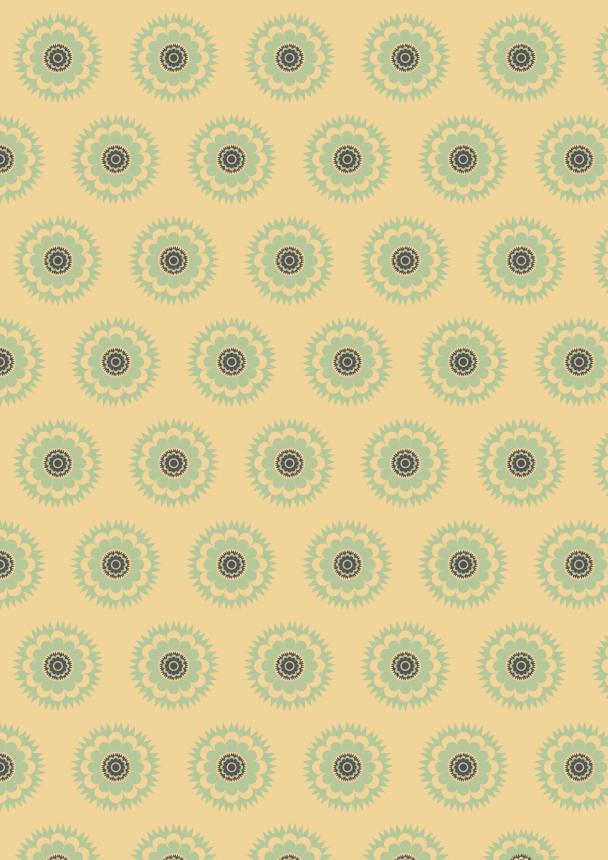retro jaune vert brun10