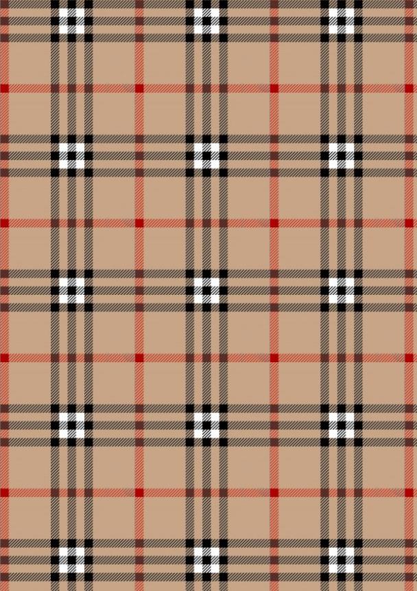 écossais baige rouge noir A4