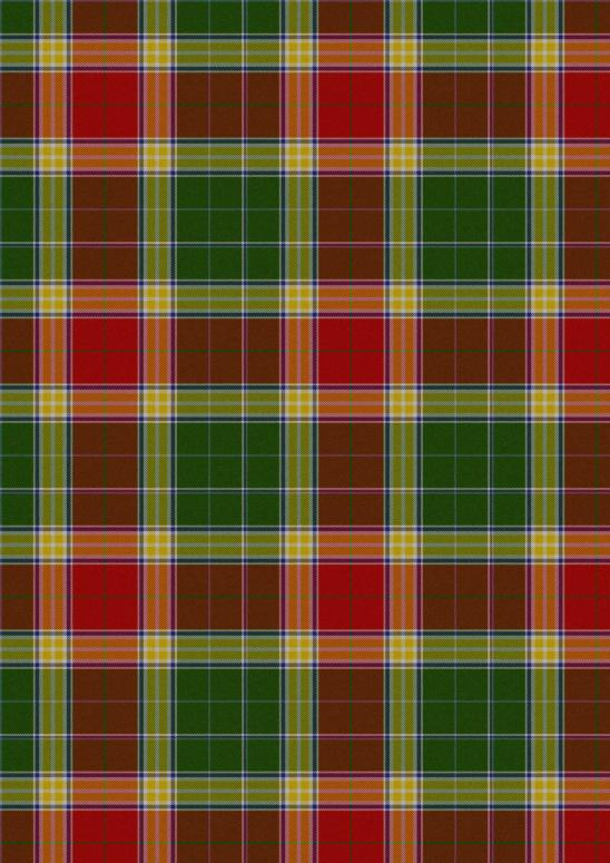 écossais rouge vert jaune orange