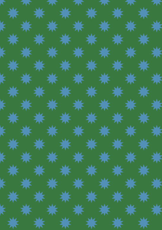 étoiles bleues sur vert