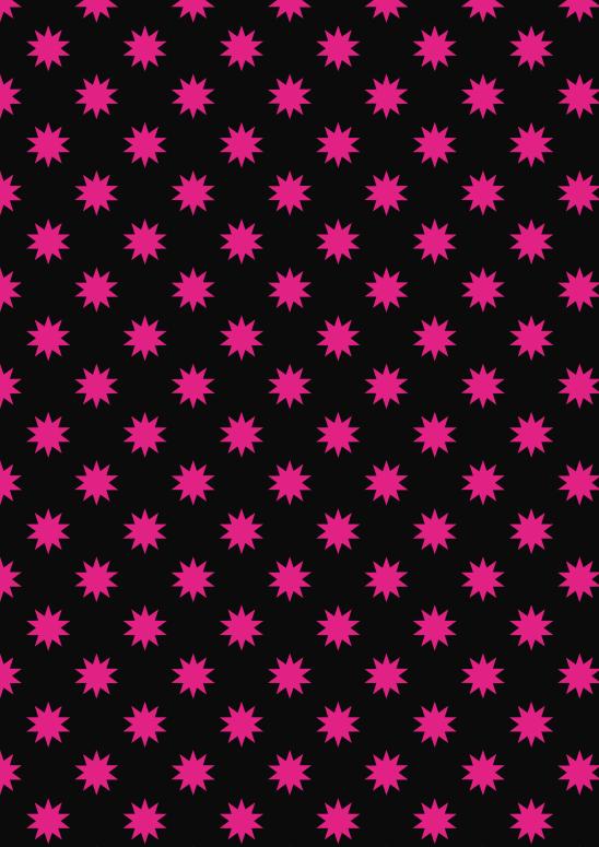 étoiles fushia sur noir