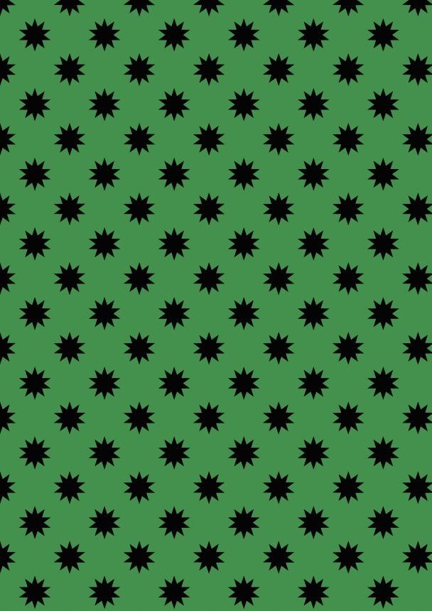 étoiles noires sur vert