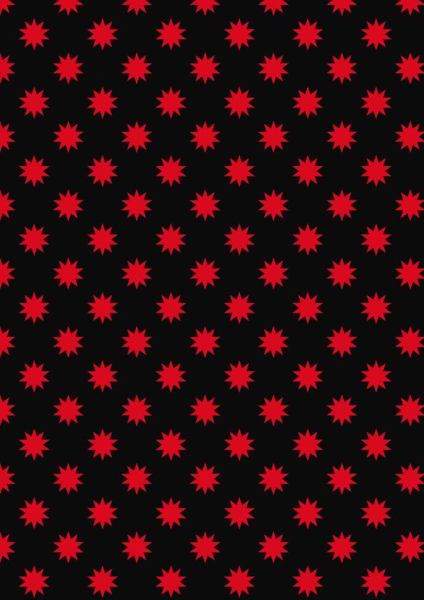 étoiles rouges sur noir