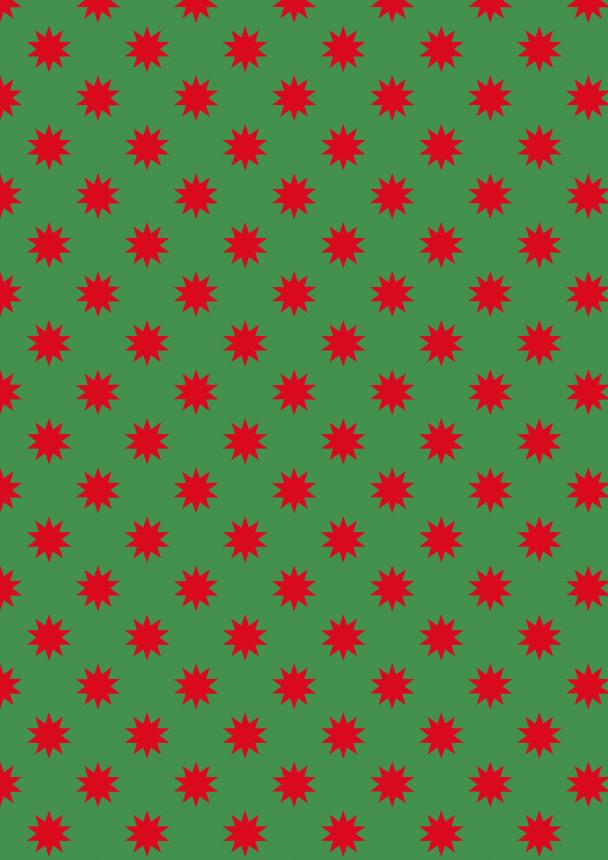 étoiles rouges sur vert