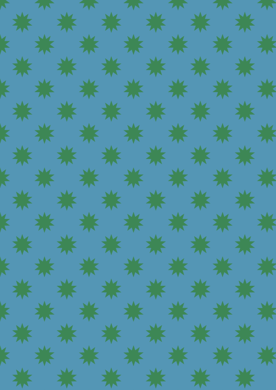 étoiles vert sur bleu