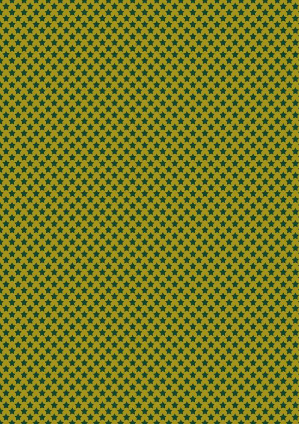 étoiles vert sur doré