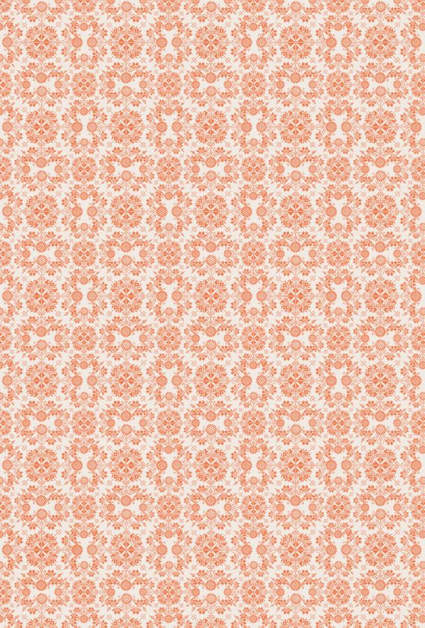 heritage orange sur blanc