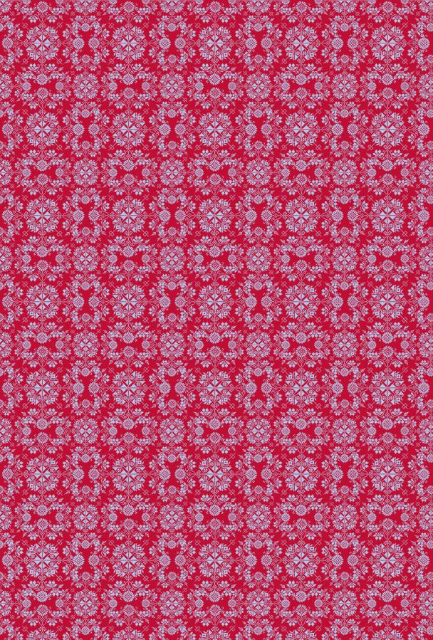 Noel bleu ciel sur rouge
