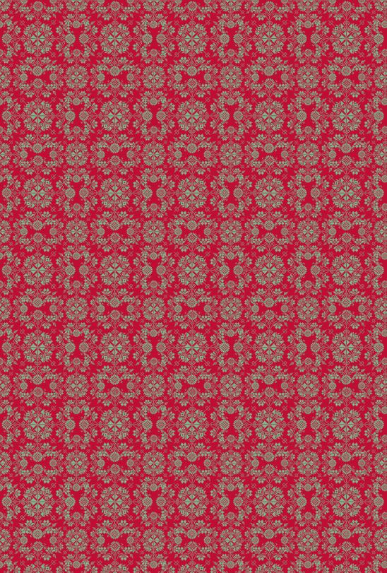 noel vert sur rouge