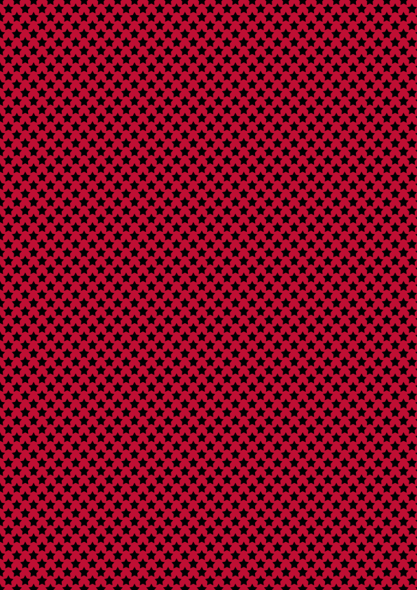 pet étoiles noires sur rouge