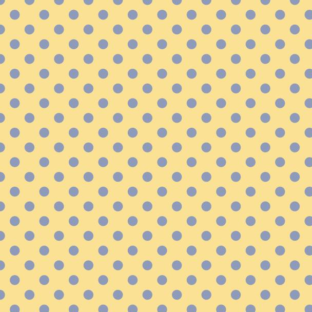 pois bleu sur jaune