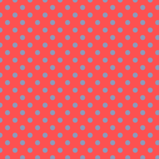 pois bleu sur rouge