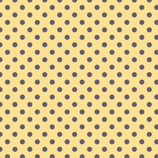 pois gris sur jaune