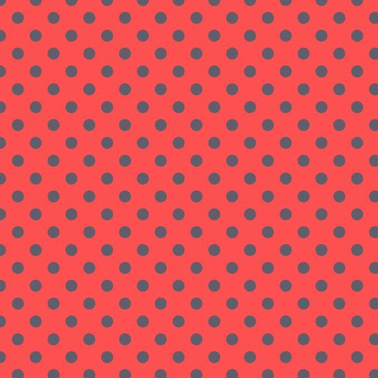 pois gris sur rouge
