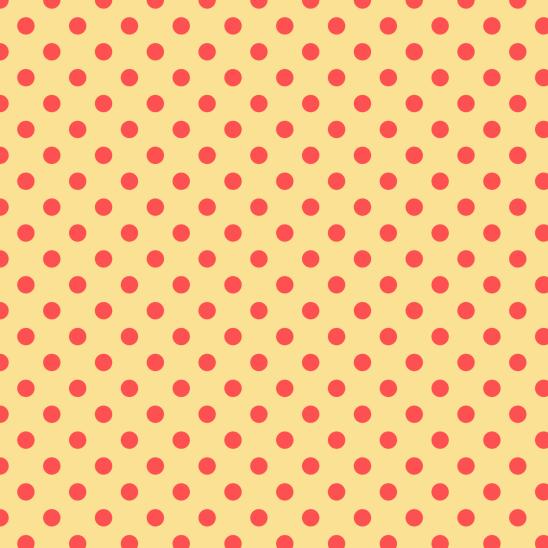 pois rouge sur jaune