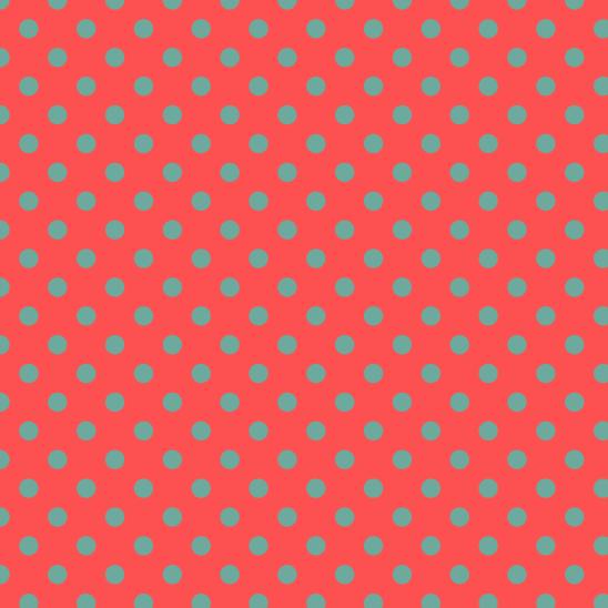 pois vert sur rouge