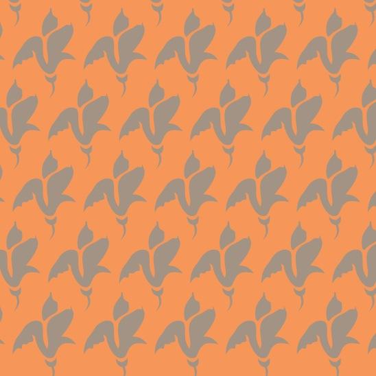 boutons tulipes sur orange
