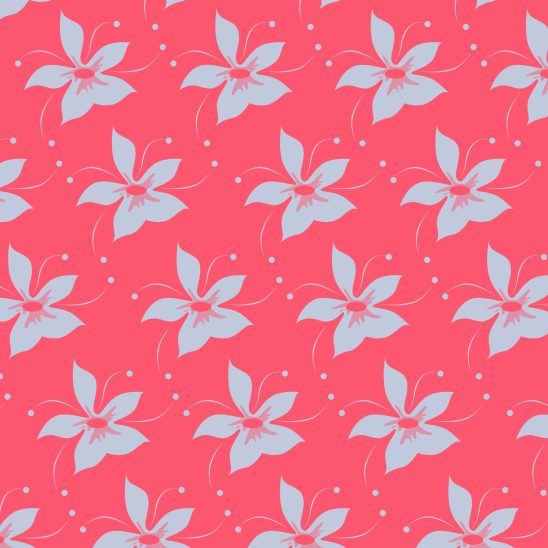 fleurs bleues sur fushia