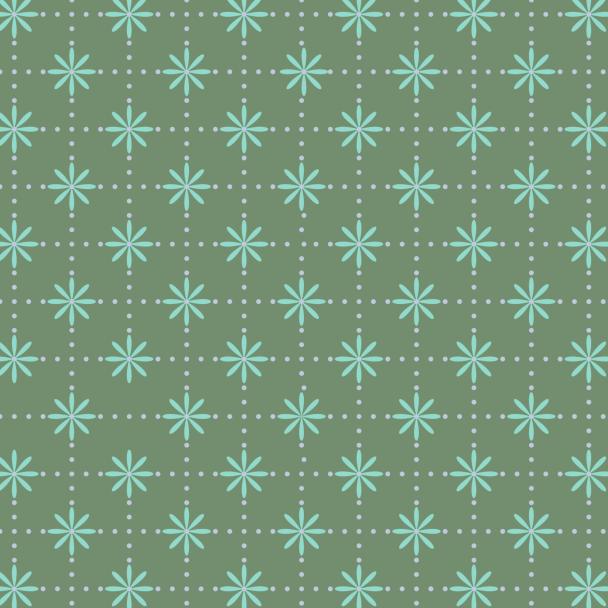 fleurs turquoise sur vert