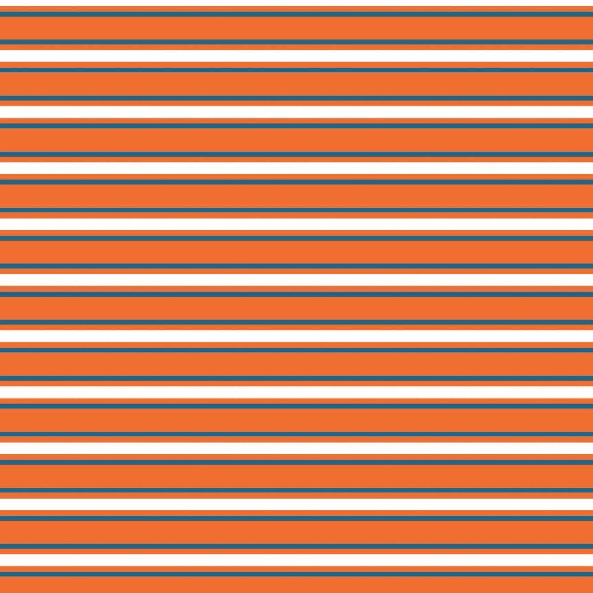 ligné sur orange