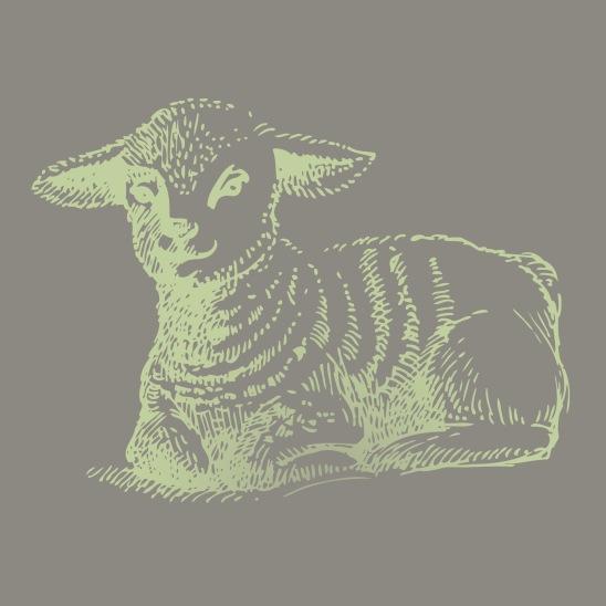 mouton de paques vert