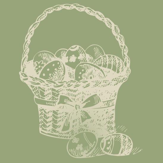 panier oeufs Pâques