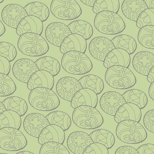 pleins d'oeufs gris sur vert