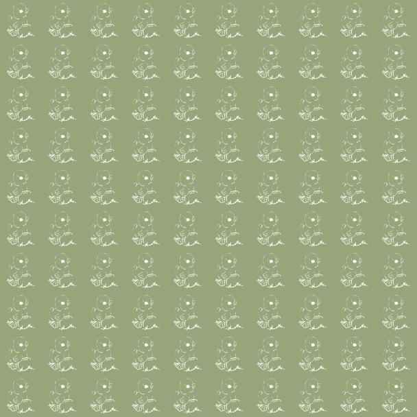 poussins blancs sur vert Paques