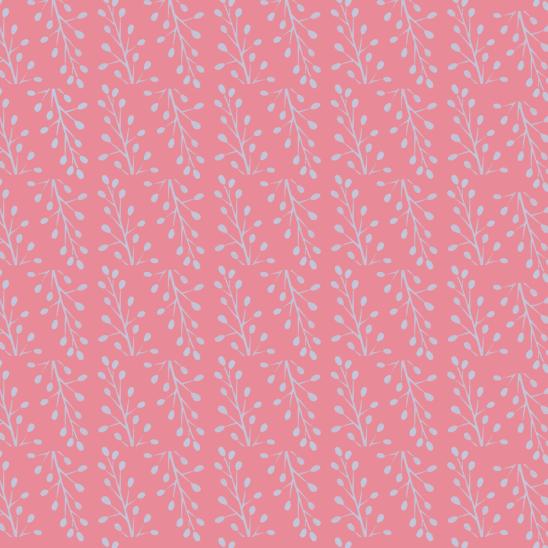 rameaux bleus sur rose pale