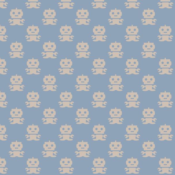 robots beige sur bleu