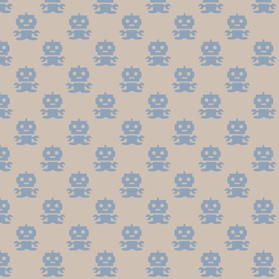 robots bleu sur beighe