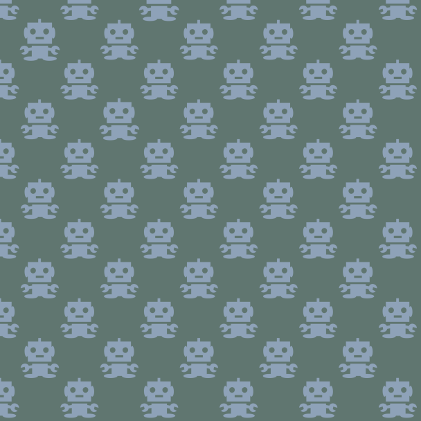 robots bleus sur vert