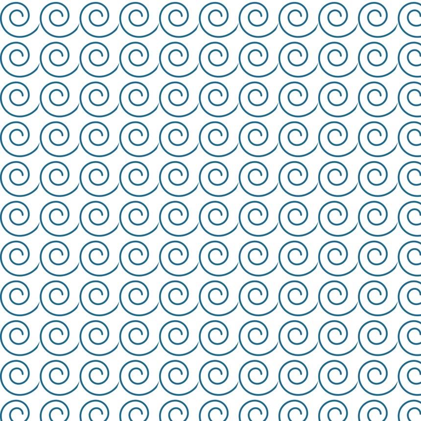 vagues bleues sur blanc
