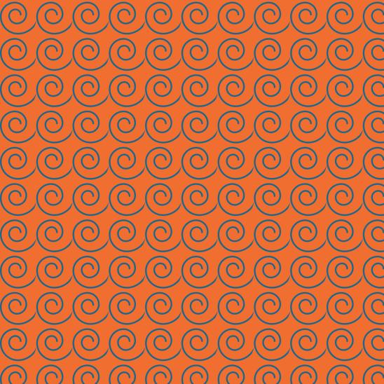 vagues bleues sur orange