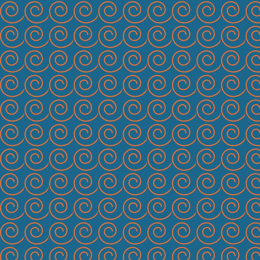 vaques oranges sur bleu