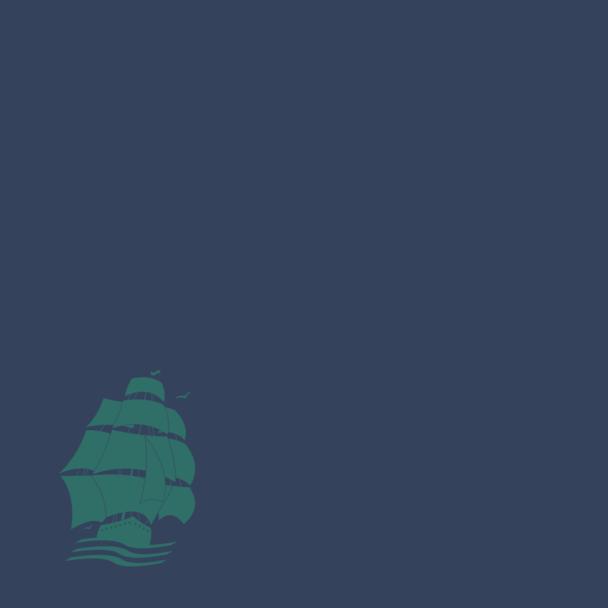 bateau vert sur bleu