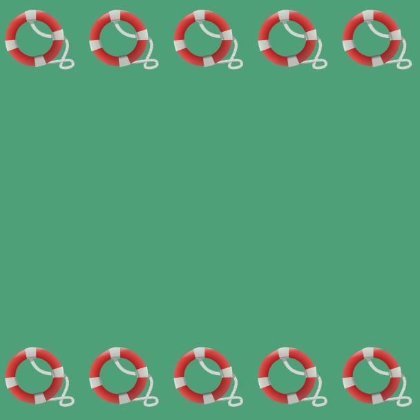 bouées sur vert