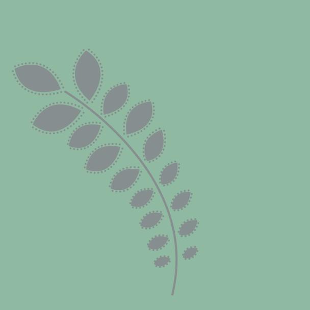 branche gris sur vert clair