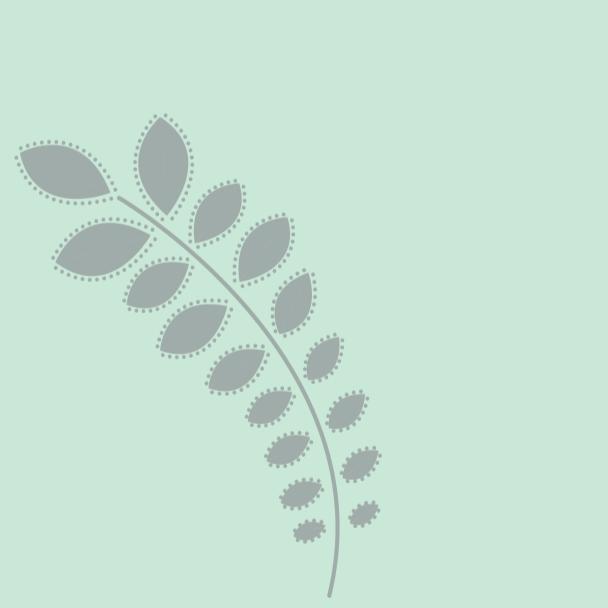 branche gris sur vert