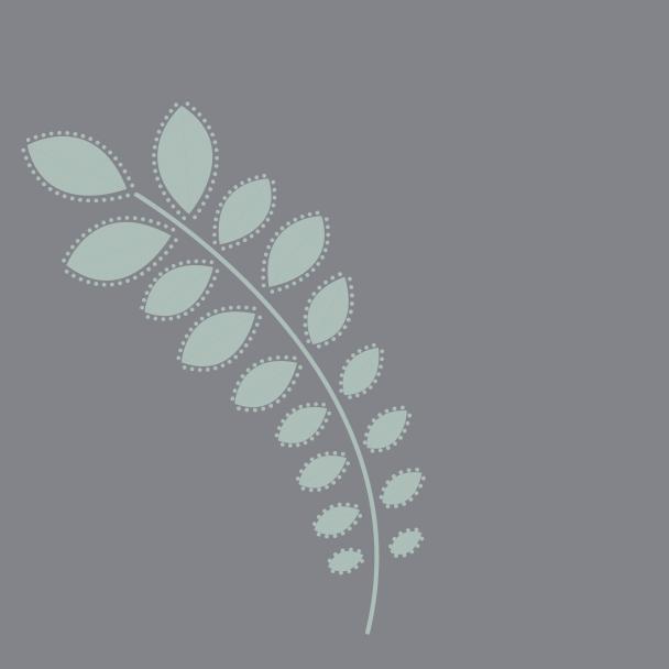 branche vert sur gris