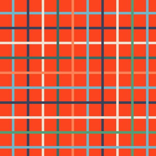 carreaux sur rouge